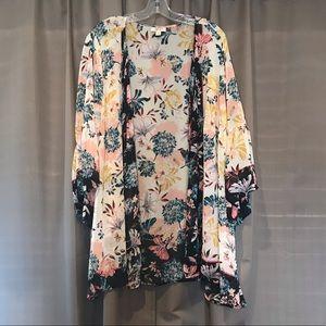 Bell Sleeve Floral Kimono